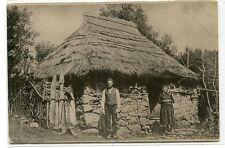 Country Cottage Family Madeira Portugal 1910c postcard