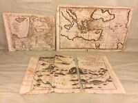 Antique Religious Maps of Holy Lands Unknown Engravers (#3 of 3)
