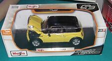 Modern Mini Cooper Yellow Maisto Special Edition 1/18 Diecast New.