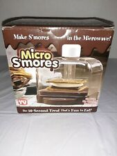 MICRO S'MORES - AS SEEN ON TV - MICROWAVE SMORES MAKER W/BOOK