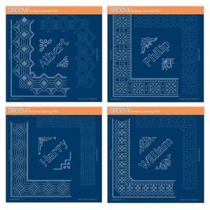 Clarity Stamps Groovi Pergament Prägung Prince Spitze Duet A4 Quadratisch Teller