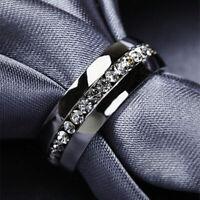 Men/Womens Titanium Steel Engagement Band Stainless Steel Wedding Ring Size 5-13