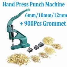 Grommet Eyelet Hole Punch Machine Hand Press Tool Banner Bag 3 Dies+900 Grommets