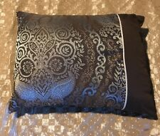 "1 Cotton Throw Pillows Cushion Home Decorative 14""x10""  Brown w/ Gray Accents VN"