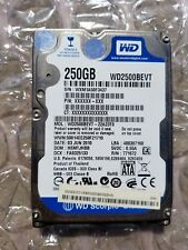 Western Digital WD 250GB WD2500BEVT-22A23T0 SATA Laptop Hard Drive WIPED &TESTED