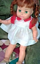 "VINTAGE HORSMAN DOLL (approx. 20"")~ sleepy green eyes, red hair ~ 2718 17EYE USA"