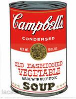 ANDY WARHOL Campbells Vegetable Soup 2006 Art Print 14-1/4 x 11
