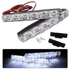 1 Pair DRL LED Car Daytime Running Light 6 LED DC 12V Auto Light Driving Lamp