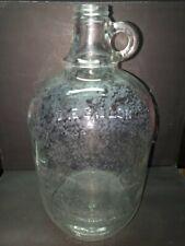 Vintage Duraglas 1 Gallon Clear Glass Jug - Embossed - Owen's Illinois Glass Co.