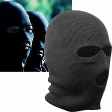 NEW BLACK BALACLAVA MASK 3 HOLES WINTER SAS STYLE ARMY SKI HAT NECK WARMER