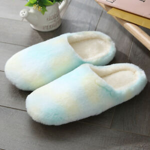 Women Winter Slippers Home Indoor Suede Soft Fluffy Fur Flat Casual Sandal Shoes