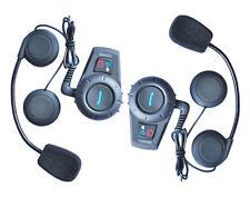 Hot 2 x BT interphone Bluetooth Motorcycle helmet Multi Headset 500M Handfree