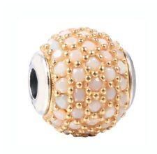 Sterlingsilber Anhänger Gold Farbe Hope mit Weiß Kristall für Essence Kollektion