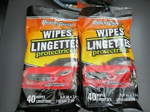 DRIVERS CHOICE PROTECTANT WIPES 40 WIPES PER PACK 2 PACKS FOR THIS LISTING