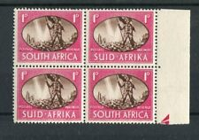 South Africa KGVI 1945 1d deep brown & carmine 'barbed wire' flaw SG108a MNH