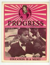Black Civil Rights Poster 1970 African American Malcolm X Education Is A Must