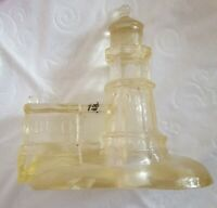 Vintage Lighthouse Accent Lamp Light Nightlight Clear Resin Lucite