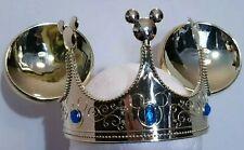 Disney Kids Mickey Mouse Ears Gold Crown Blue Stones Padded Inside Headband 22''
