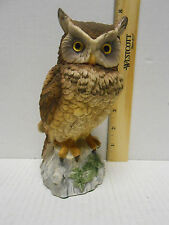 "Vintage Andrea by Sadek Horned Owl #9339  Stands 7"" tall  Japan"