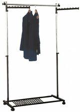 Garde-Robe Support Roulant Télescopique Penderie de Couloir Jack Stands Métal