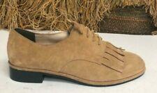 Via Spiga Brown Suede Leather Ballet Flats Slip On Loafers Womens SZ 6 B V-IGGY