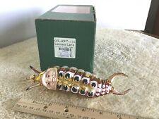 "Lawrence Larva 5.25"" Slavic Treasures 01-497A H/Blown Glass Ornament 2001"