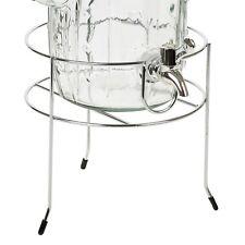 Metal Beverage Drinking Jar Dispenser Support Stand Holder Rack Sturdy Party NEW