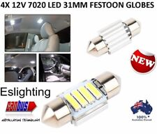 4X 12V 31MM FESTOON 7020 4 LED CAR UTE 4WD INTERIOR DOME MAP LIGHT BULB GLOBE