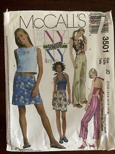 New MCCALL'S Misses Top Skirt & Pants Pattern 3501 Size 11/12 -17/18  Uncut