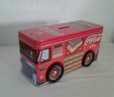 """Coca-Cola Tin Metal Delivery Truck 2014 Made China Approx; 8.25"""" x 4"""" x 3.25"""""""