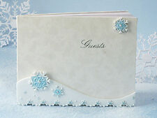 Winter Wonderland Collection Guest Book Signatures Sign Gift Reception Bridal