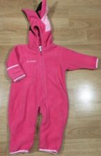 Columbia Bunting Snowsuit Baby Toddler Size 12 Months Pink Excellent