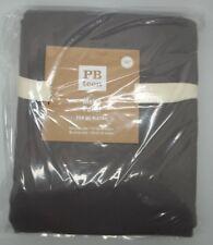 "POTTERY BARN TEEN METRO GROMMET PANEL BLACKOUT CHARCOAL 96"" #419"