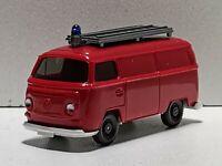 Wiking ( 603 / 7A CS 1048 / 1A )  - VW  T2 Kasten Feuerwehr - orangerot - T@P