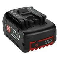 18V 6Ah Li-ion Battery For Bosch BAT609 BAT609G BAT618 BAT618G Replacement Black