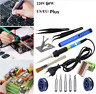 Pro 60W Electric Soldering Iron Tool Set Adjustable Temperature Welding Kit Tool