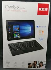 "RCA Cambio W1013 DK 2-in-1 Tablet PC 10.1"" 2GB Ram 32GB HD Windows 10 Keyboard"