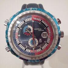 Rarität: Echte Luxus Vintage Sorna Breitling Worldtimer Chronograph Swiss Made