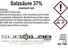 ACIDO CLORIDRICO 37% CHIMICAMENTE PURO, 1 Liter