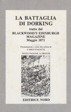 FANTASCIENZA La battaglia di Dorking tratto dal Blackwood's Edinburg Magazine