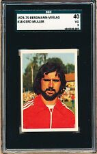 1974-75 Bergmann Verlag Gerd Muller SGC 40 = PSA 4 Uncommonly seen German Issue