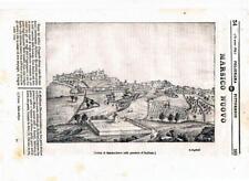 Basilicata Potenza Marsico Nuovo Montepeloso lotto di 4 xilografie 1800