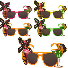 Adult Flamingo Cocktail Hawaiian Novelty Sunglasses Hen Stag Party Fancy Dress