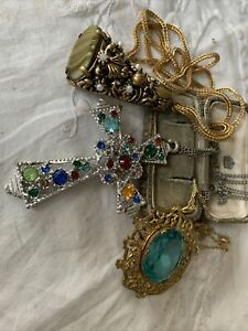 Collection Of Dazzling Vintage 1950s/60s Crystal necklaces