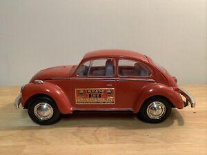 Vintage 1973 VW Volkswagen Beetle Bug Red Car Jim Beam Whiskey Decanter empty
