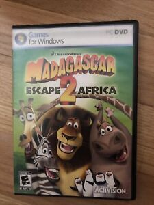 Madagascar Dreamworks Escape 2 Africa PC DVD Windows Video Game
