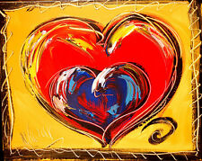 VALENTINE HEARTS IMPRESSIONIST LARGE ORIGINAL OIL  PAINTING - CANADIAN TF3T2T