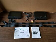 Philips PD7012/37 Portable / Car DVD Player 2 LCD SCREENS and Hook ups