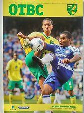 Norwich City West Bromwich Albion V Barclays Premier League 11/9/2011 Como Nuevo