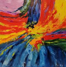 """Ölgemälde Abstrakte Kunst Original Bild """"Colorful Emotions"""" 50 x 50 cm"""